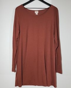 MOSSIMO Orange Long Sleeve Dress (X-LARGE)